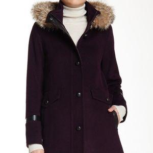 Pendleton Lambswool & Coyote Fur Hooded Coat